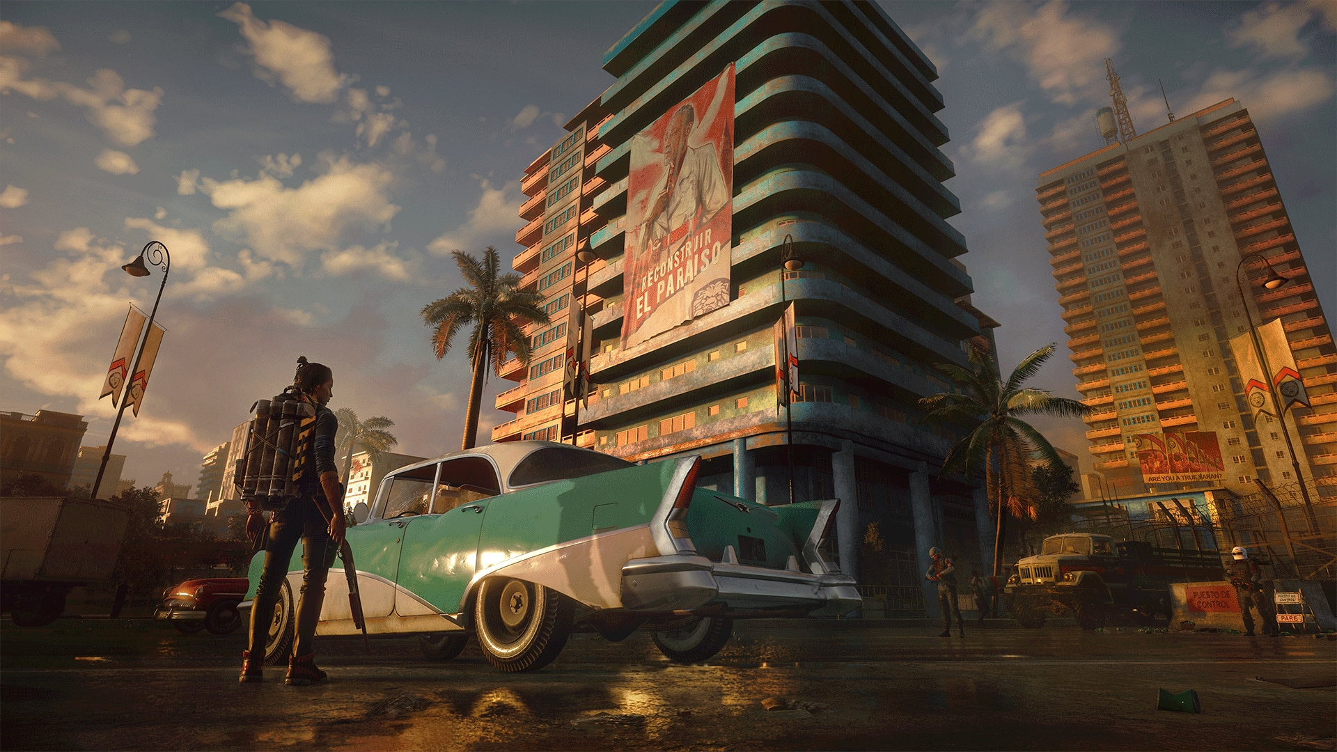 Esperanza, die Hauptstadt von Yara | Bildquelle: https://news.ubisoft.com/en-us/article/13Ub9wz4Y67LYjox2oytzO/far-cry-6-narrative-director-on-tropical-setting-and-creating-a-new-villain © Ubisoft | Bilder sind in der Regel urheberrechtlich geschützt
