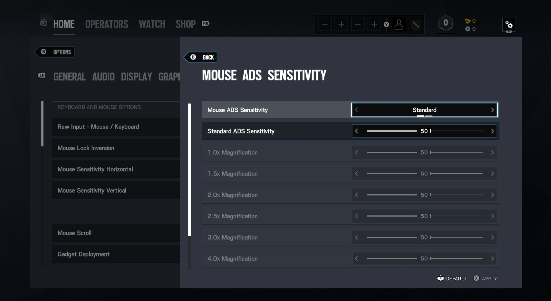 [R6S] Y5S3 ADS Sensitivity Standard