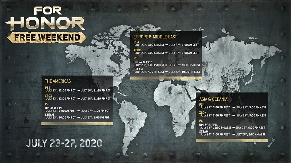 [UN] [News] For Honor Free Weekend Starts July 23 - Map