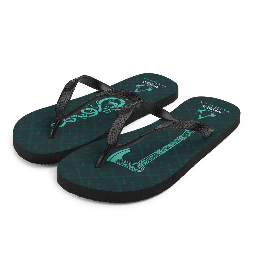 [UN] [News] Official Assassin's Creed Valhalla Merchandise Now Available - Axe Flip Flops