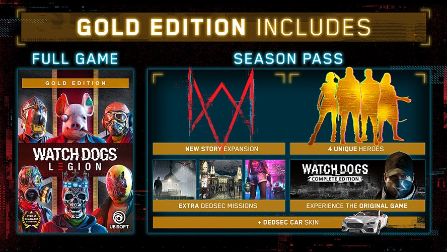 Watch Dogs Legion Season Pass Promo - Gold Edition Image