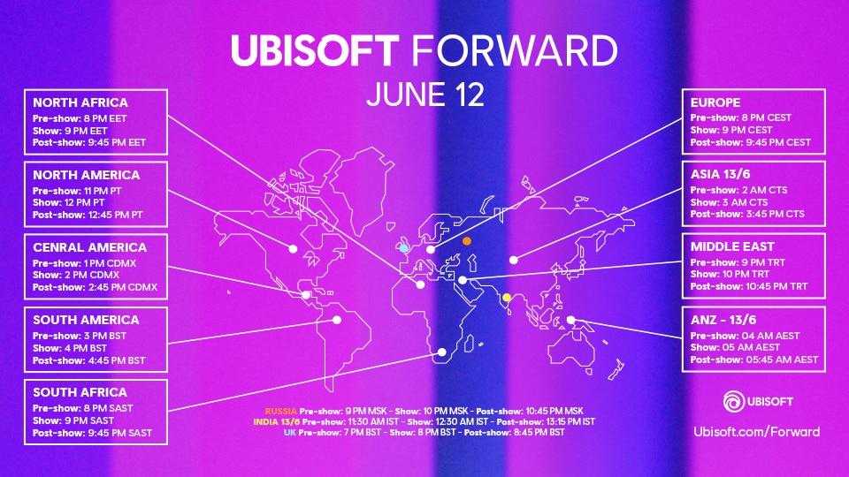 Ubisoft Forward alrededor del mundo