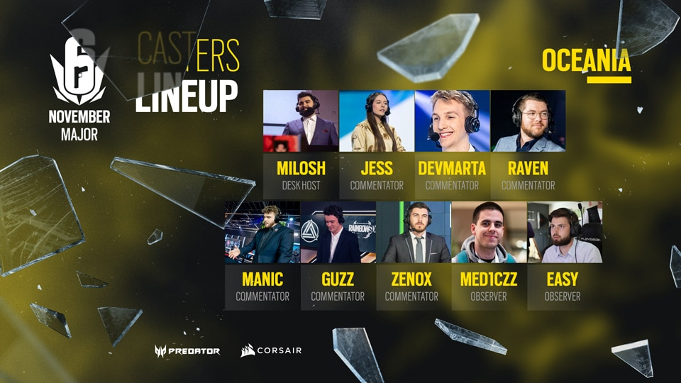 ASSETS CASTERS LINEUP OCE