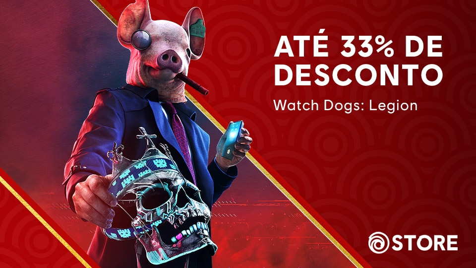 WDL Lunar New Year Sale 2021 article thumbnail featuring Watch Dogs Keyart with Lunar Background Pattern