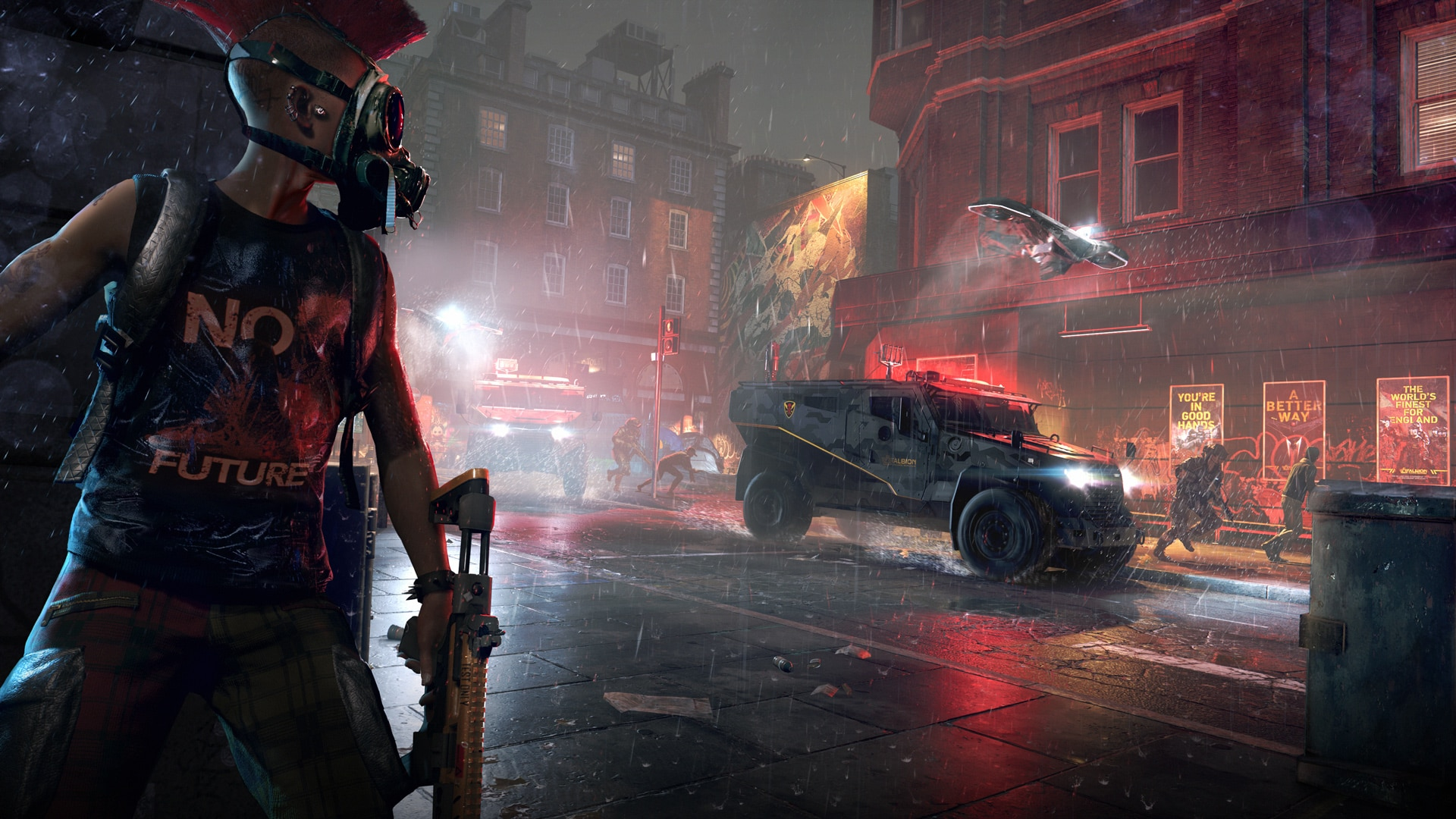 [UN][News] Watch Dogs: Legion – Hands-On With Cargo Drones, Recruitable Enemies, and a Revamped DedSec - Cinematic-on-the-run-1920x1080