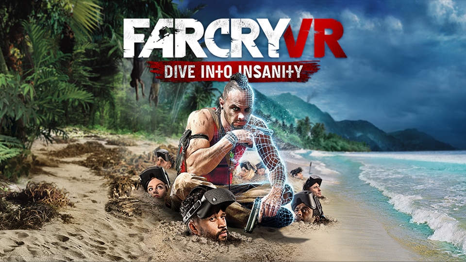 Vaas Montenegro sitting in the sand / Far Cry 3 main art