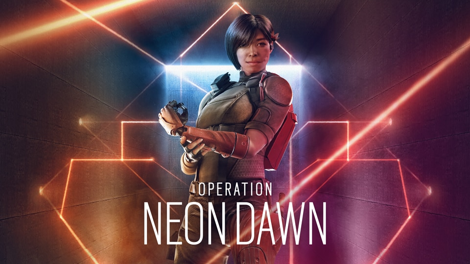 Operation Neon Dawn new season keyart with new operator Aruni