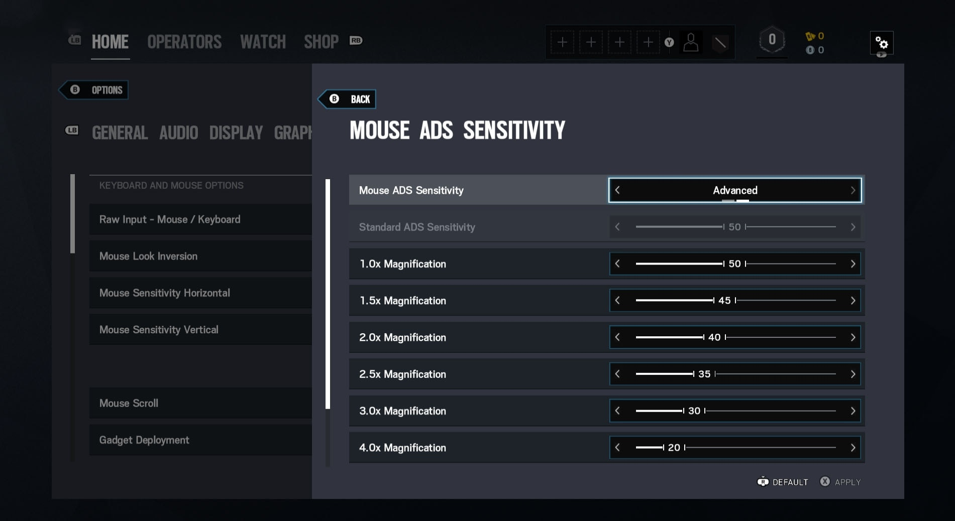 [R6S] ADS Sensitivity Advanced