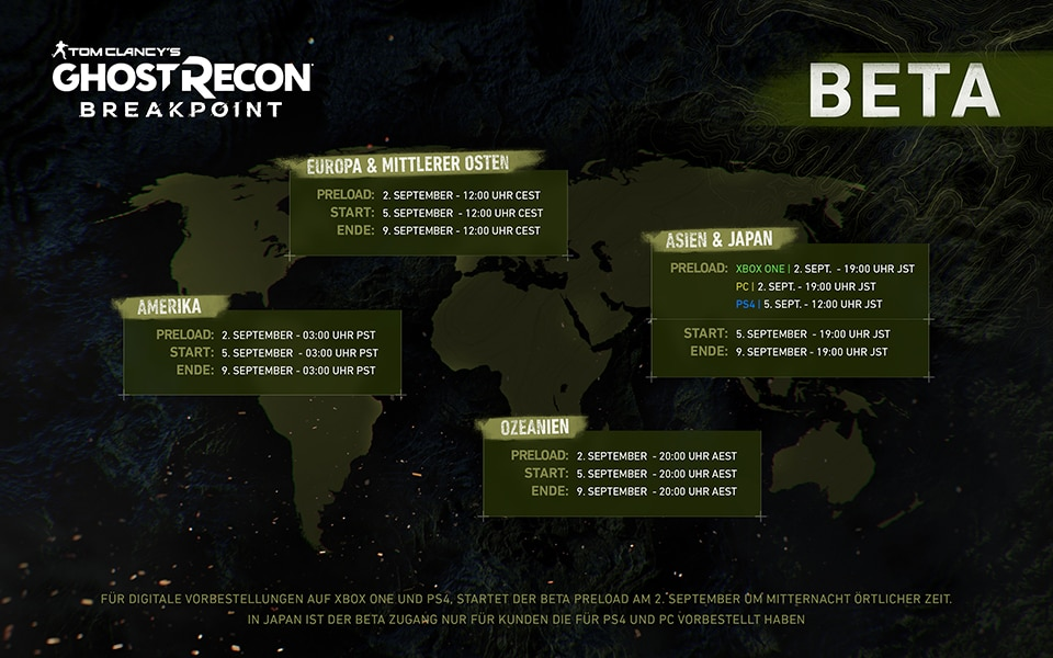 GRB Beta Access Map GER