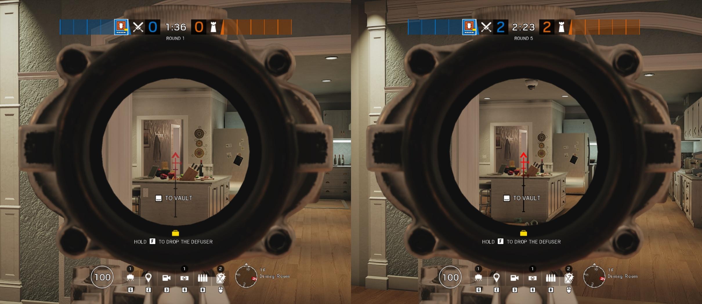 rainbow six siege Y5S3 ACOG_Comparison