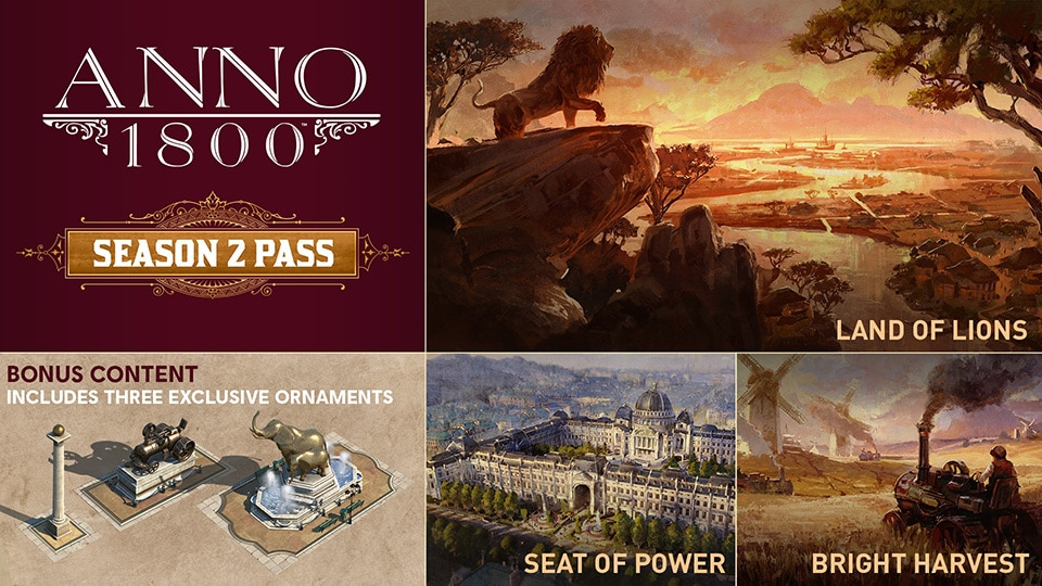 [UN] [News] Anno 1800 – 3 Major New DLC Expansions Coming With Season 2 Pass