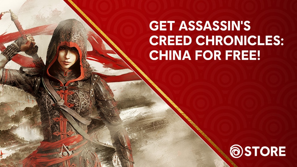 Get AC Chronicles China Free Thumbnail featuring AC Chronicles Keyart with Lunar New Year Background pattern