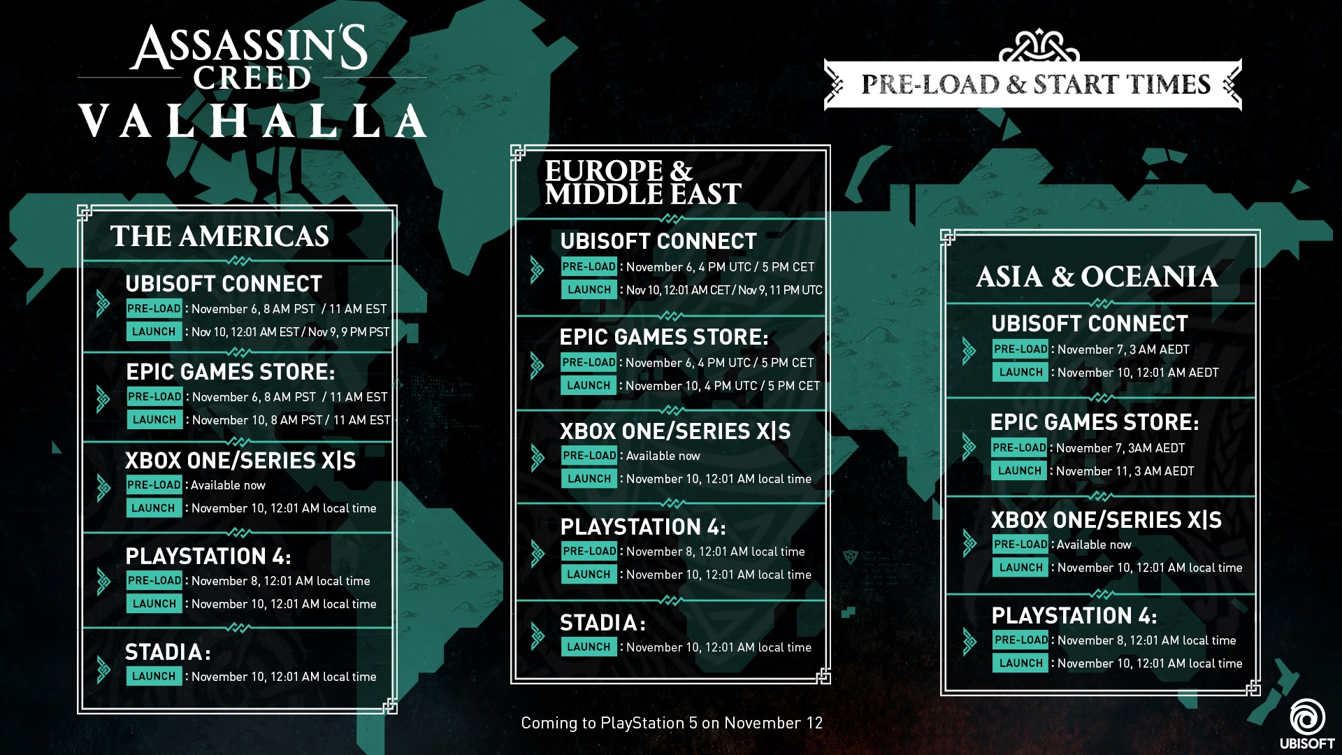 Assassin's Creed Valhalla - Launch map