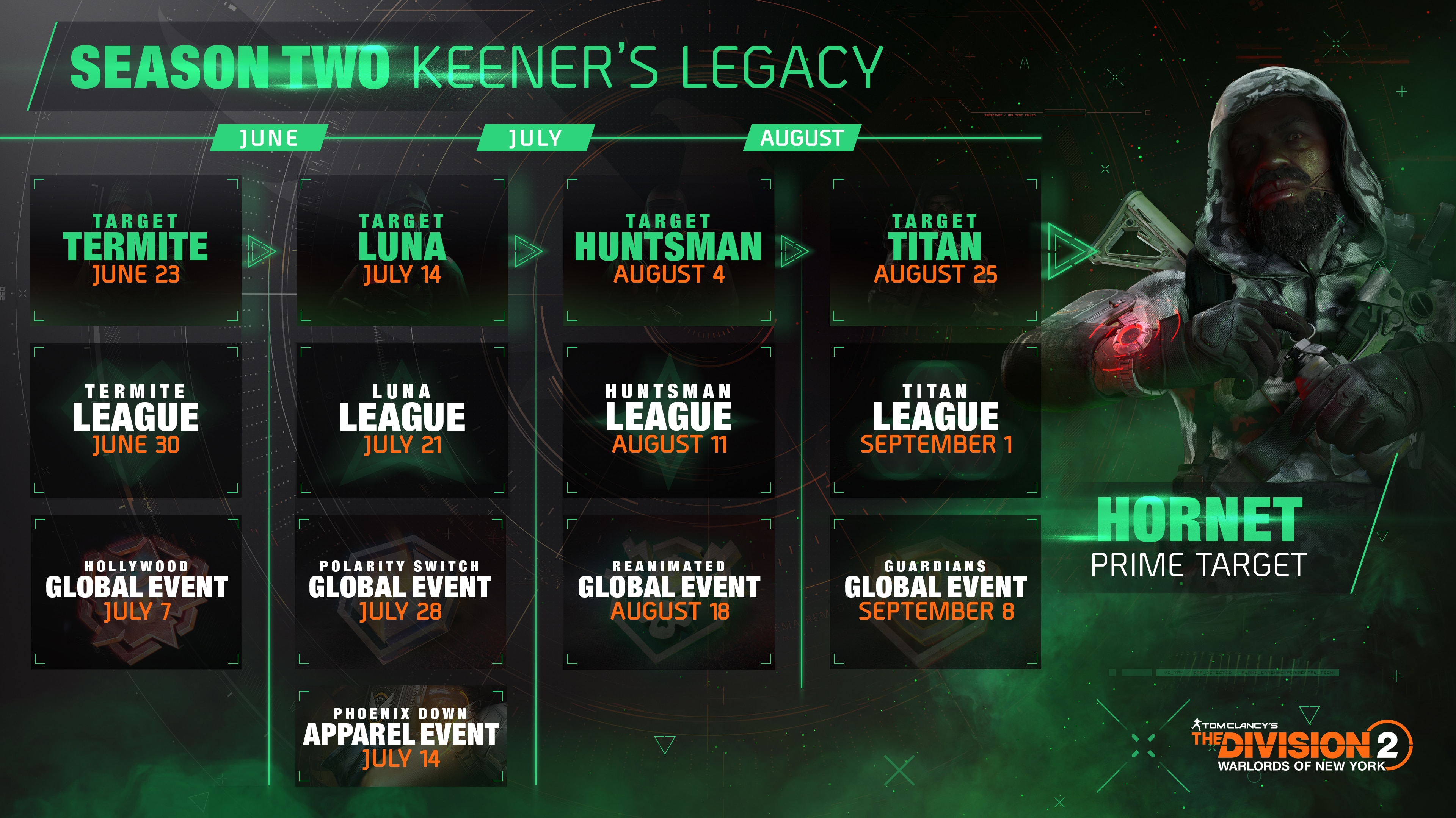 Season 2 - Keener's Legacy is now live! | Calendar